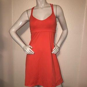 Athleta Coastline Dress Asphalt Coral Medium